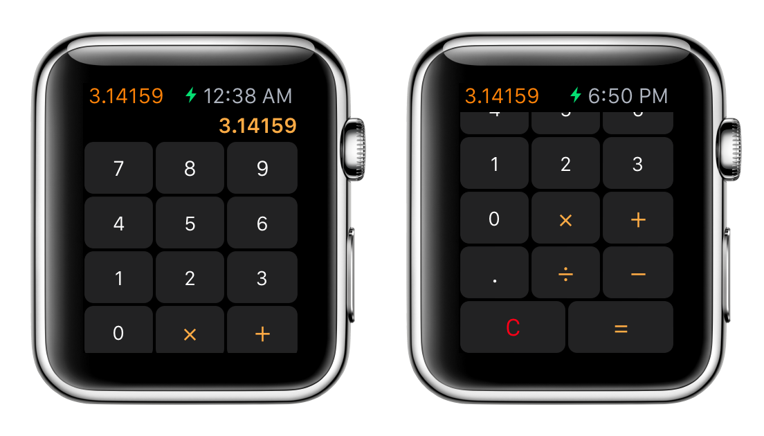 Apple Watch Calculator